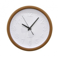 CLOCK WALL ROUND WOOD