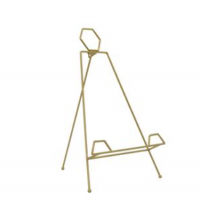 EASEL FOLDING METAL GOLD MED