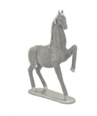 FUGURINE HORSE ON BASESILVER